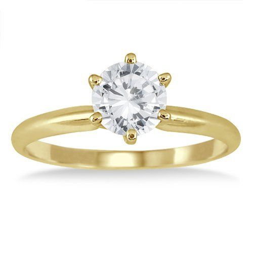 1 Carat Diamond Solitaire Ring in 14K Yellow Gold Szul. $929.00. Complimentary Packaging. 60 Day Complimentary Repair Service. 30 Day Money Back Guarantee