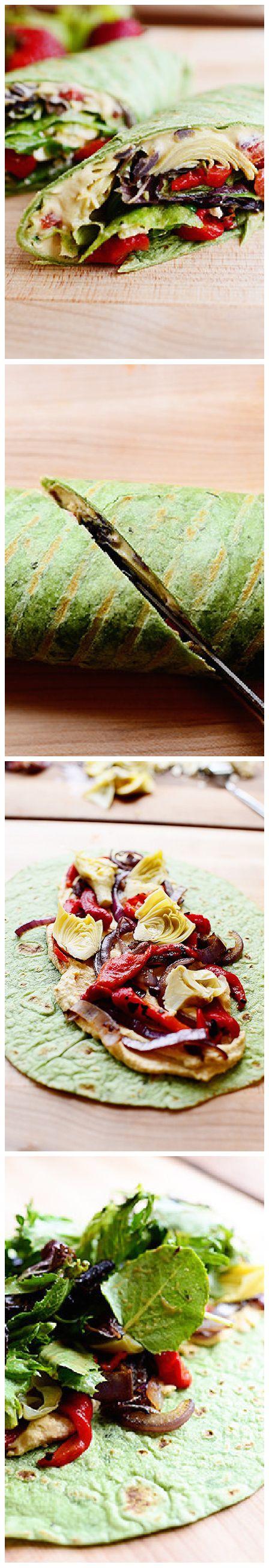 17 Best ideas about Veggie Hummus Wrap on Pinterest ...