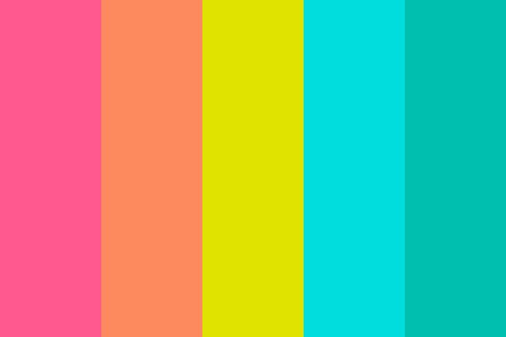 top bright color palette with png image of bright summer color palette