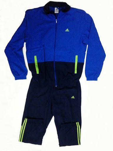 Jaket dan Celana Running Adidas Blue Beam   Belanja murah online