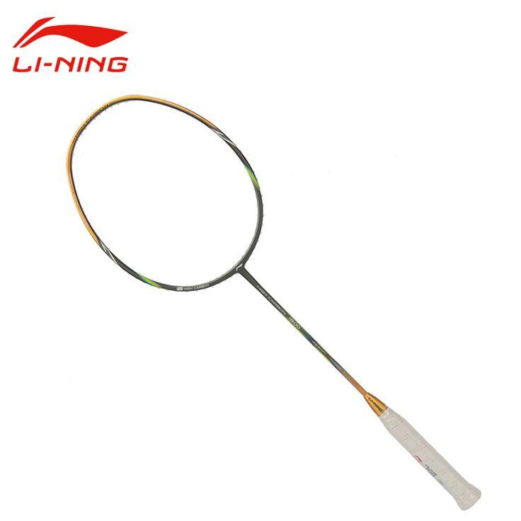 Raquetas de bádminton de li-ning profesional de alta calidad li ning de carbono bola de control tipo sports bádminton aypl112 hc1800