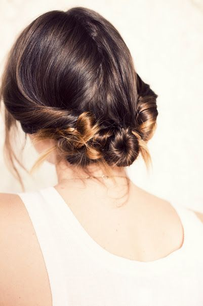 three twisted buns tutorialHairstyles, Hair Tutorials, Long Hair, Beautiful, Buns Hair, Twists Buns, Messy Buns, Hair Style, Hair Buns