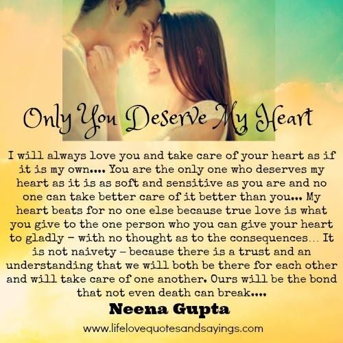 I Love You And Only You Quotes: Only-you-deserve-my-heart