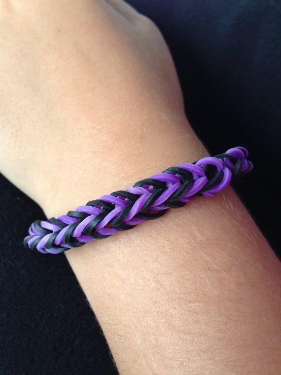 Purple And Black Rubber Band Bracelet Ravens By