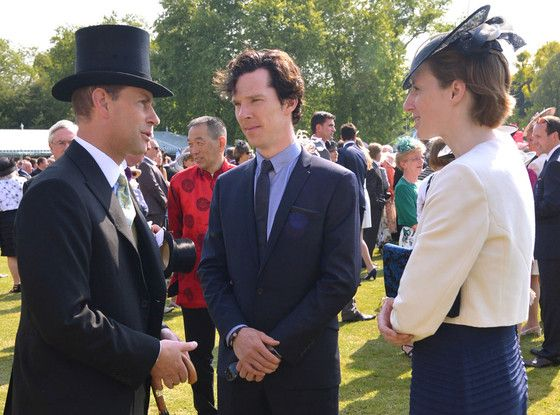 Benedict Cumberbatch, Prince Edward, Earl of Wessex ...he did not show up in a bed sheet.