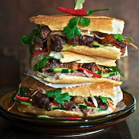Vietnamese Caramel Braised Pork Belly Banh Mi.  I adore Bahn Mi when I can find it.  Now I can just make it.