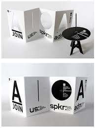 Resultado de imagen para folletos creativos en blanco y negro
