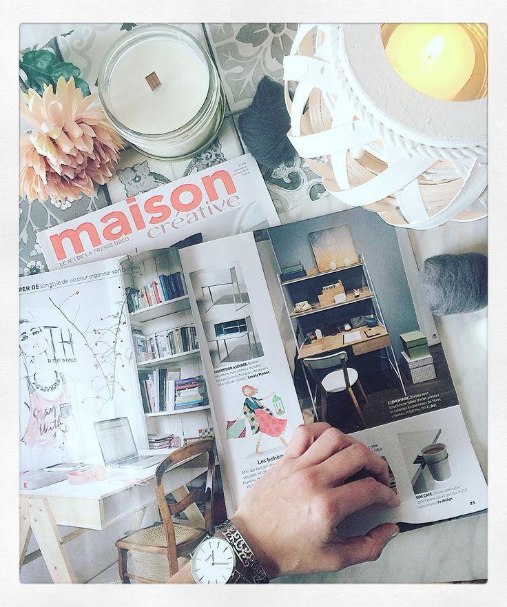 """41 mentions J'aime, 3 commentaires - Decoration - DIY - Etsy (@decodeboutique) sur Instagram: """"- On bouquine, on s'inspire - @maisoncreativeofficiel est une revue que j'adore ! Beaucoup d'idées…"""""""