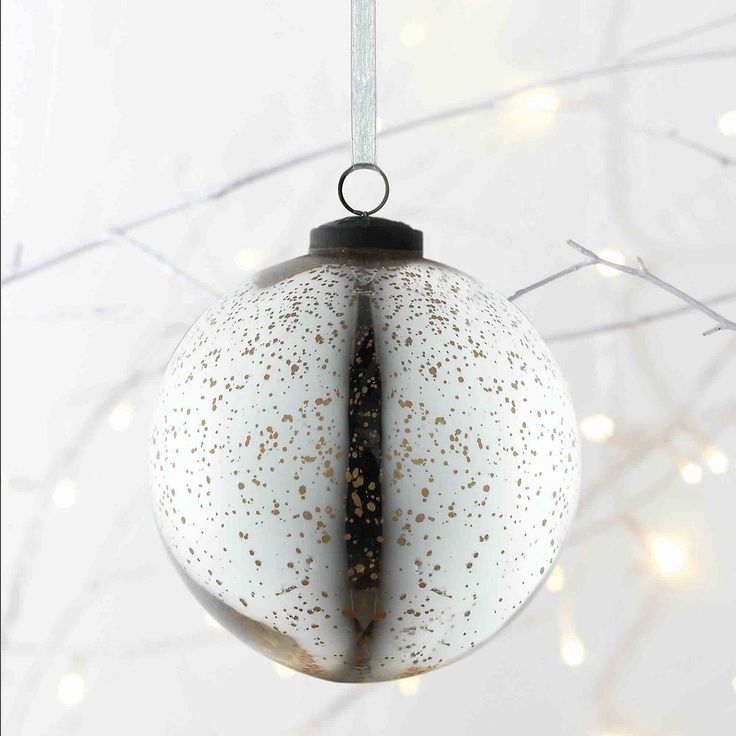 Large Mercury Bauble | The White Company