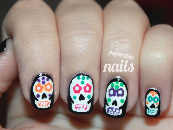 The 25 best sugar skull nails ideas on pinterest skull nail its october which means halloween and yes i know these are sugar skulls which are custom on dia de los muertos which is novermber prinsesfo Gallery