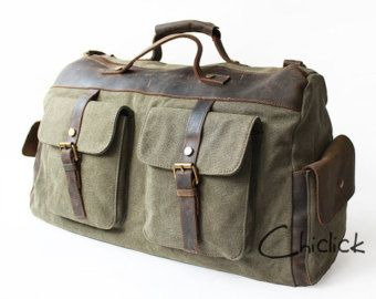 hommes r tro toile la main en cuir sac polochon de voyage bagages sacoche messenger bag. Black Bedroom Furniture Sets. Home Design Ideas