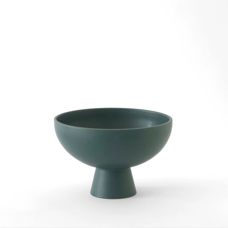 "These sculptural ceramic pieces are inspired by the still life paintings of the Danish modernist artist Vilhelm Lundstrøm. Handmade in Portugal using a slip-cast technique, they marry refined simplicity with everyday function. They pick up on the color palette and minimal yet mindful proportions of the bowls, vessels and vases that characterize Lundstrøm's work. Small - 5.9"" x 3.9"" Large - 8.6"" x 5.9"" Earthenware handmade in Portugal design by Nicholai Wiig-Hansen"
