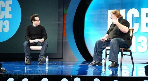 Filmmaker J.J. Abrams and game creator Gabe Newell announce at DICE conference that they'll work together on collaborations in the future. (via engadget)