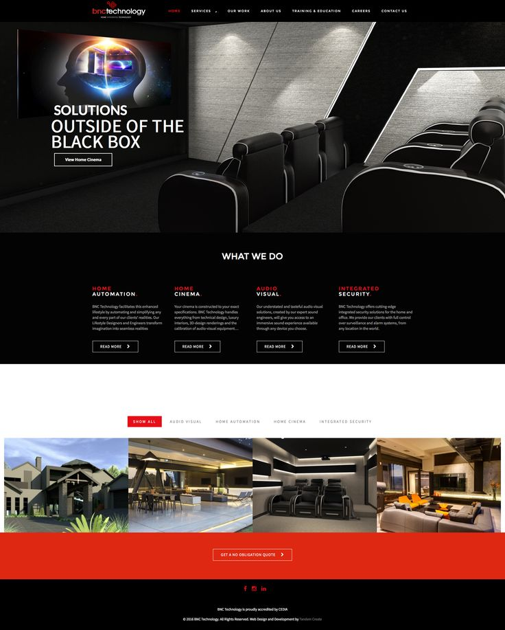 BNC Technology Website - Home Automation and Cinemas