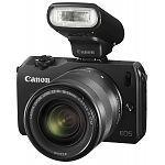 Canon EOS M zwart + 18-55mm + flitser