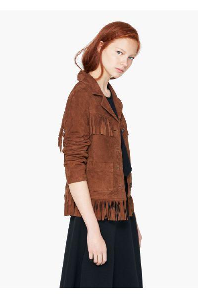 Mango Suede fringed jacket - The Fashion