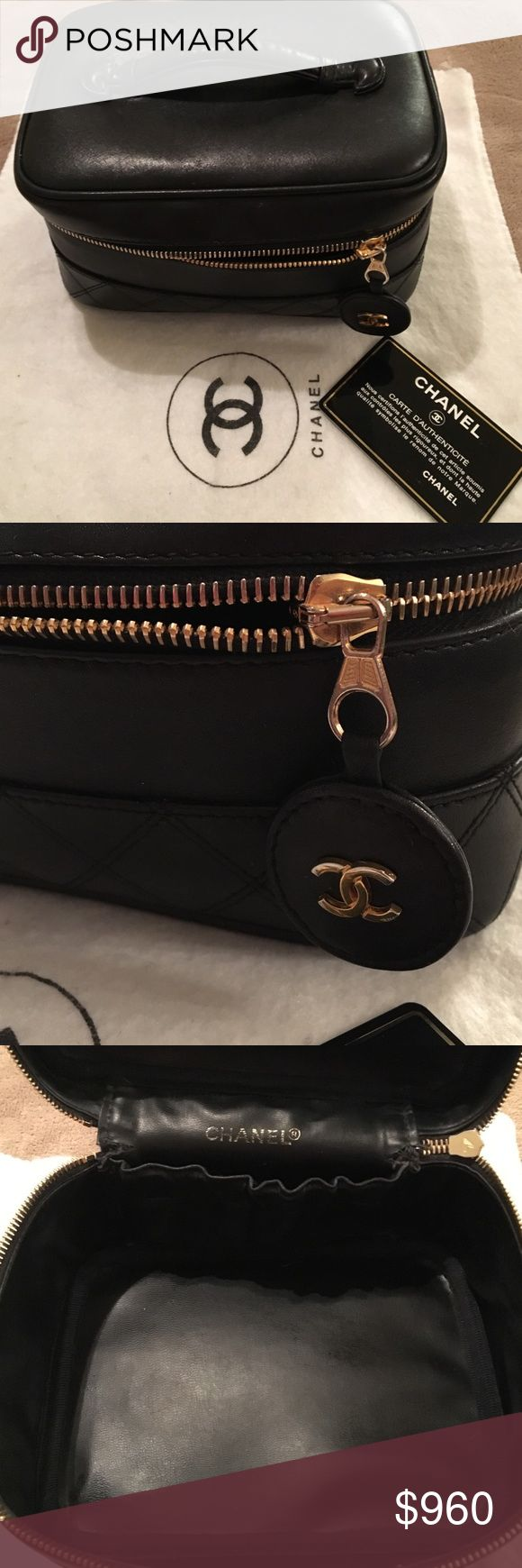 Authentic chanel quilted vanity bag