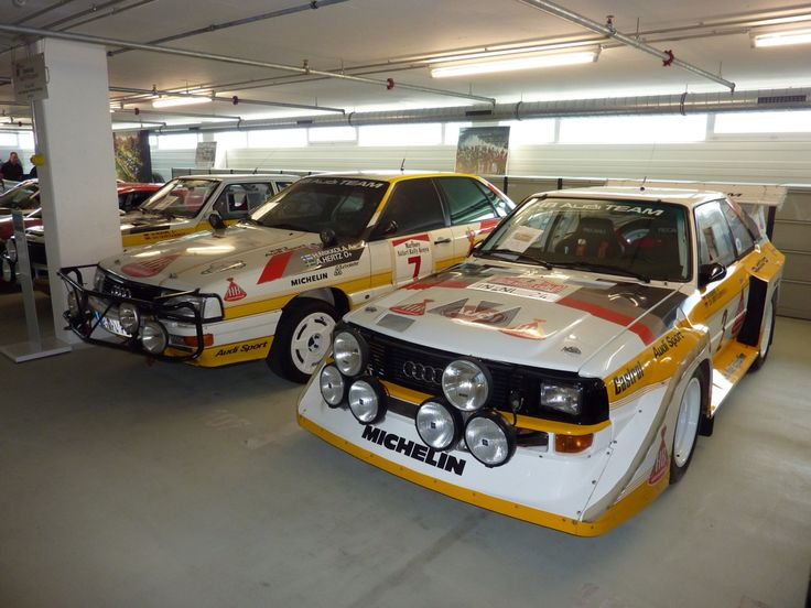 Rally cars. Audi style