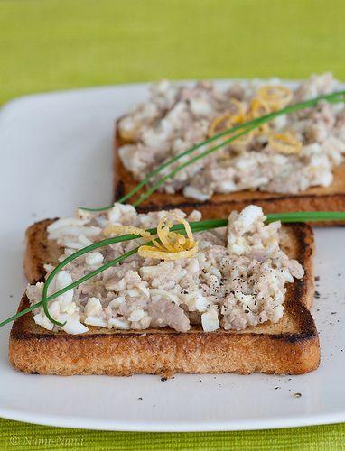 Cod liver toast / Tursamaksasalat by Pille - Nami-nami, via Flickr