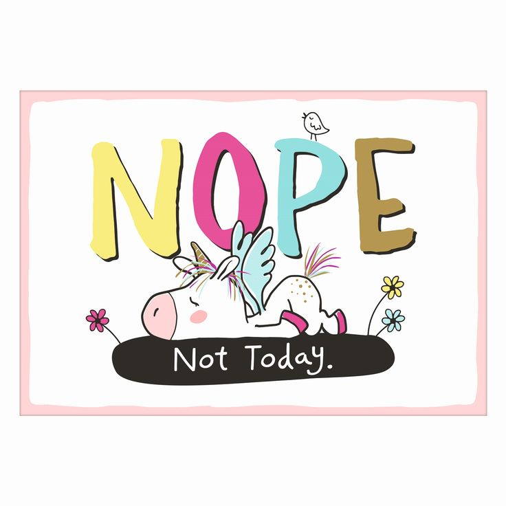 """""""NOPE - Not Today."""" - mit diesem coolen Statement verzaubert Dich das sympathische Duo Hope (Panda) & Gloria (Einhorn) auf dieser einzigartigen Postkarte."""