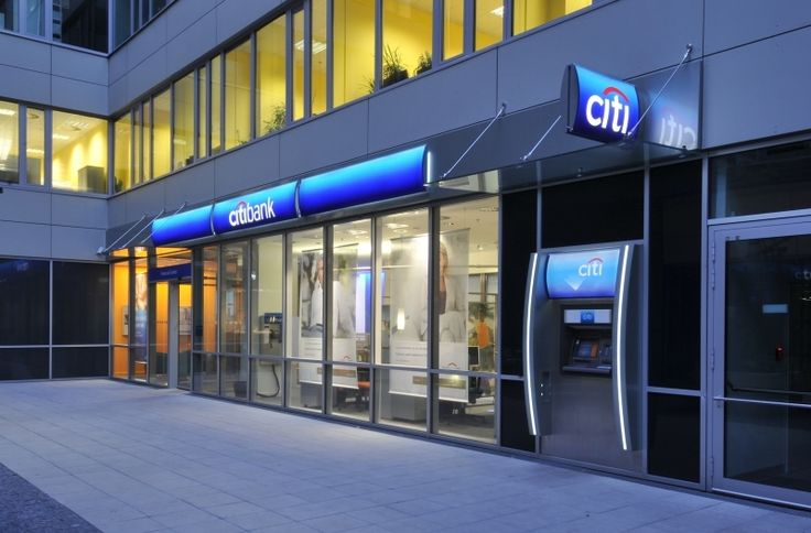 citibank...illuminated fascia