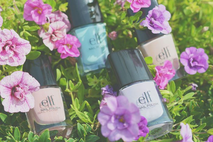 ELF Nail Polish Nude, Mint Cream, Lilac & Desert Haze