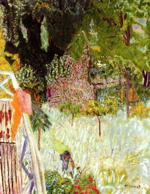 ❀ Blooming Brushwork ❀ - garden and still life flower paintings - Pierre Bonnard | Balcony at Veronnet. 1920