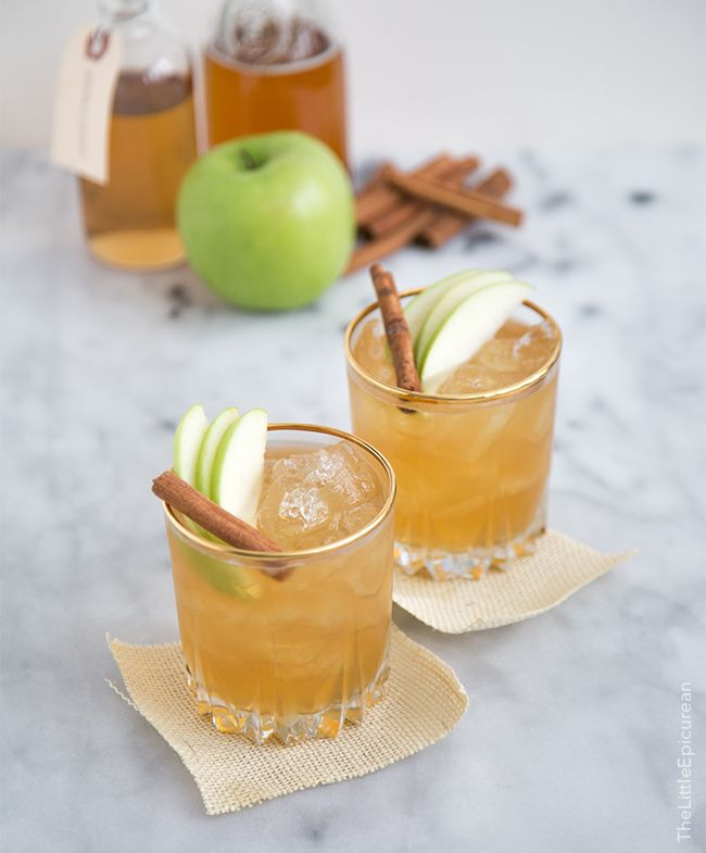 throw back a few of these apple pie #moonshine #cocktails while you wait for the turkey to come out of the oven
