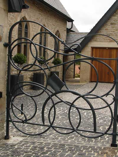 Close up of unnamed house gates