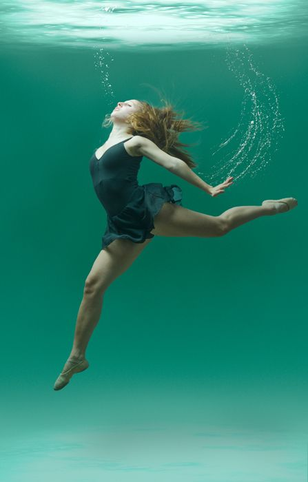 Another underwater portrait. Love the bubbles showing the hand motion.