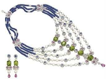 AN IMPRESSIVE SUITE OF MULTI-GEM, CULTURED PEARL AND DIAMOND JEWELLERY, BY MICHELE DELLA VALLE