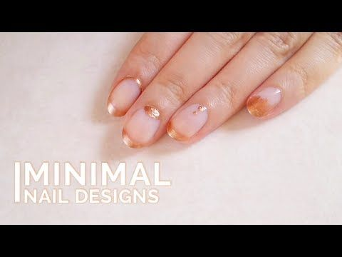Rose Gold nail art | 4 Easy & Minimal Nail Designs  - La creme