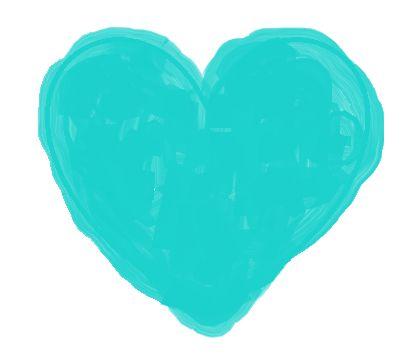 Color Azul Turquesa - Turquoise!!! Heart