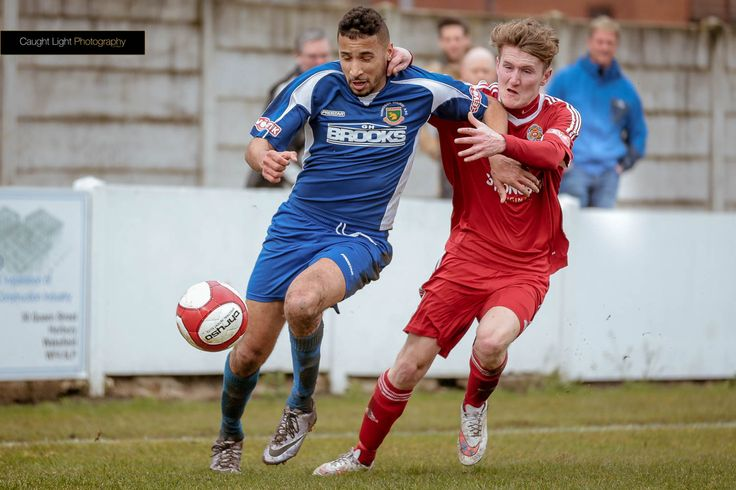 Nathan Curtis playing against Ossett Town