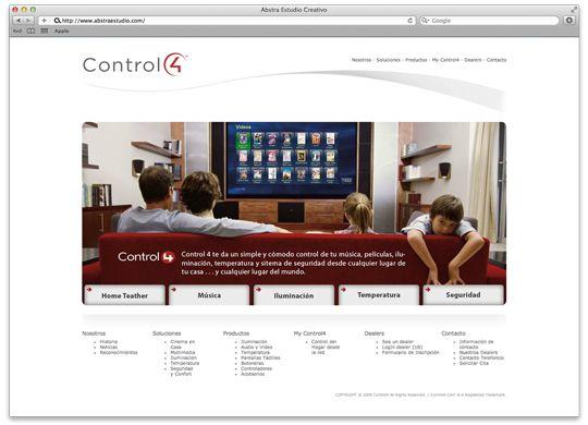 Abstra Estudio Creativo | Control4 Web