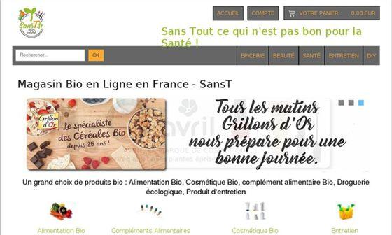 SansT - Magasin bio en ligne     -