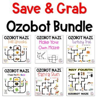 Ozobot Printable Maze - On Log Wall