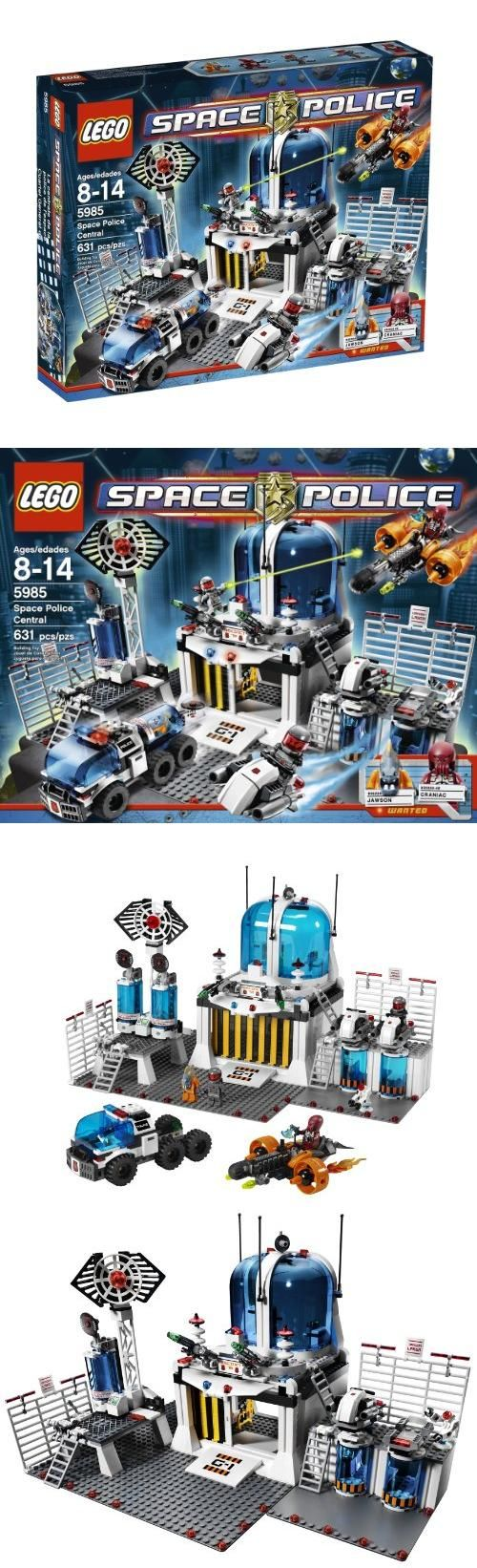 LEGO® Space Police Central 5985, Pieces: 631Lock up alien crooks in Precinct 78 and prevent maximum-security mayhem!The Space Police are out to contain some of the galaxy's most dangerous criminals in Precinct 78's prison pods. Now t..., #Toys, #Building Sets