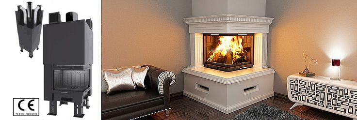 corner fireplace wood burning decorating ideas pinterest