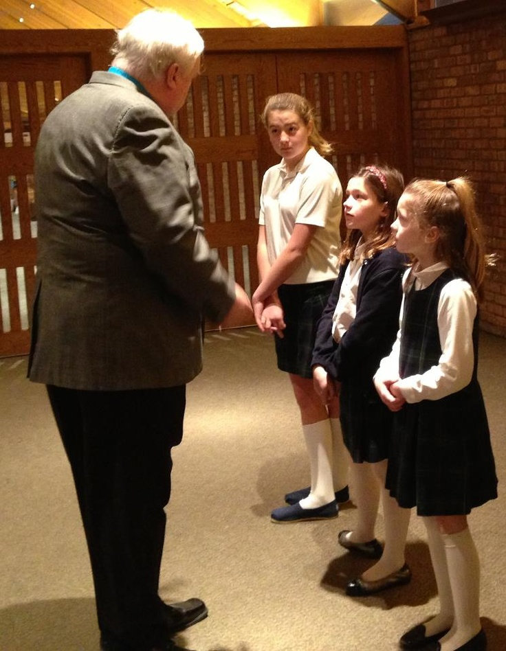 Our students greeted parishioners at the Sunday masses to open Catholic Schools Week.