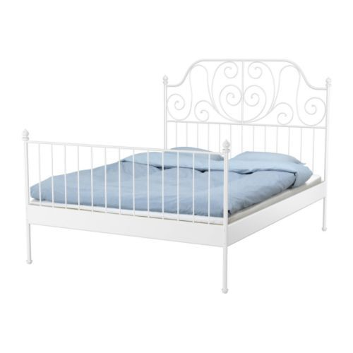 I am getting an iron bed, obvi. I want a black one, so I love the idea of spray painting this iron one from IKEA! It's only $99!