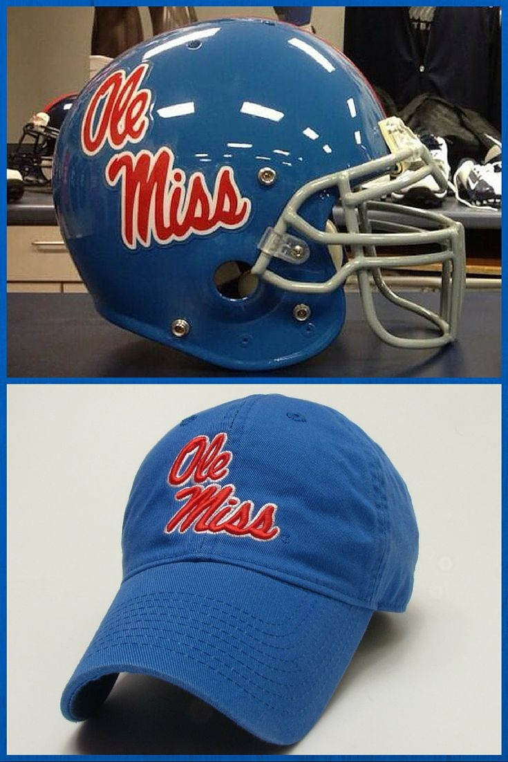 Have your team pride on full display when you finish any look with the Ole Miss Powder Blue Helmet Hat. Be the number one fan thanks to a raised embroidered logo on the front identical to the logos on the Ole Miss Rebels football helmets.