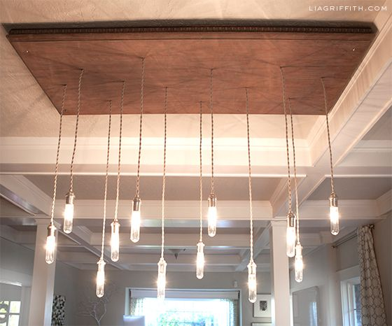 VIDEO: Make an Industrial Edison Style Chandelier | Lia Griffith || Um, awesome. Check it out @jgarro !