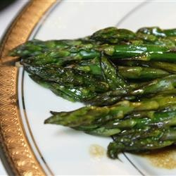 Baked Asparagus with Balsamic Butter Sauce | Recipe