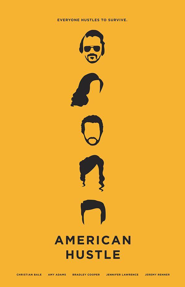 American Hustle (2013) ~ Minimal Movie Poster by Chun-Yao Peng #amusementphile