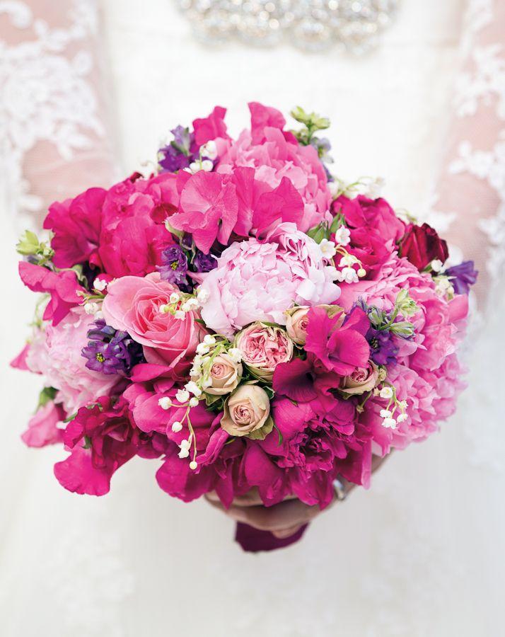 Brautsträuße Pink - Hochzeitsblumen, Brautstrauß