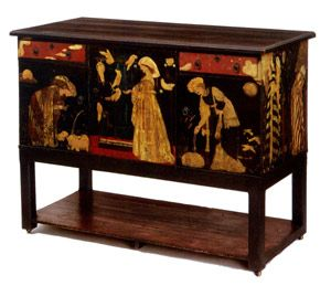 Medieval Style U0027Ladies And Animalsu0027 Sideboard Designed And Painted By  Edward Burne Jones