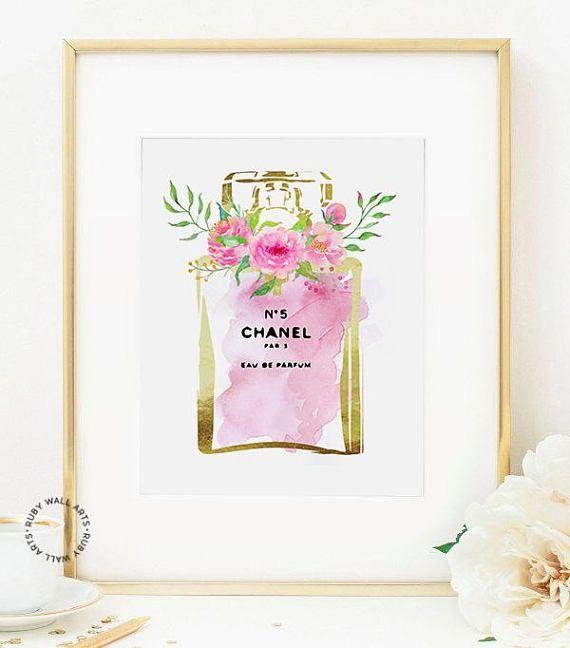 Chanel No5 No 5 Perfume Chanel Print Fashion Poster Wall