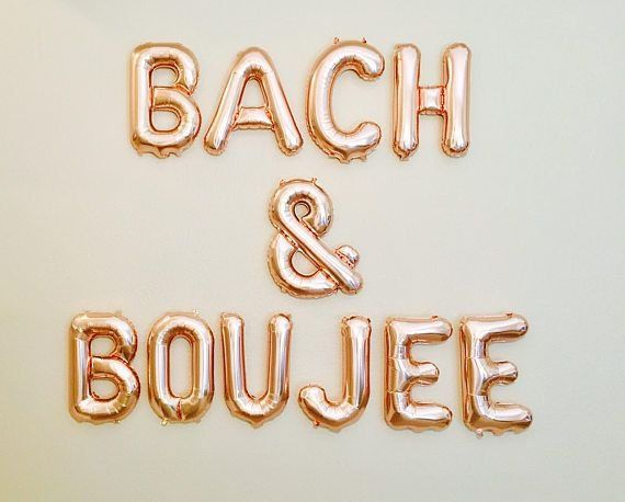 16″ Rose Gold, Silver, Gold Bachelorette Party Decor Decorations BACH & BOUJEE Banner Bachelorette Decor Bach Balloons Bride an Boujee