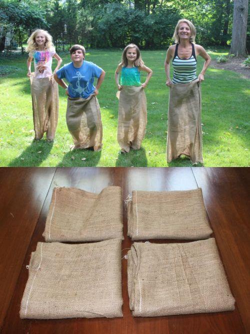 3c388769c38e Garden Waste Bags 181024: Burlapper Burlap Potato Sack Race Bags (4 ...